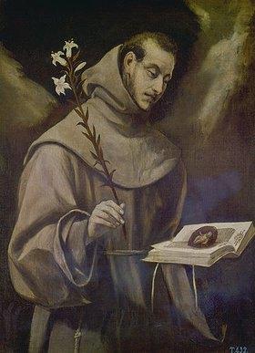 Greco El (Dom.Theotokopoulos): Hl. Antonius