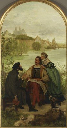 Victor Müller: Ritter Hartmut von Cronberg bei dem Reformator Oecolampadius in Basel