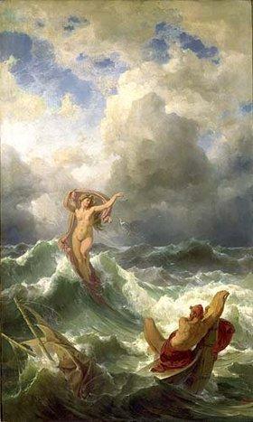 Friedrich Preller d.Ä.: Leukothea und Odysseus