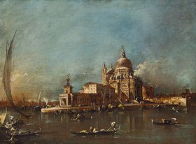 Francesco Guardi: Blick auf Santa Maria della Salute und die Dogana