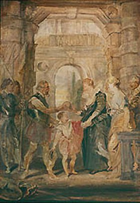 Peter Paul Rubens: Skizze zum Medici-Zyklus, 1621-1625: Die Übertragung der Regierung an Maria de Medici