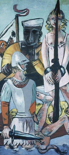 Max Beckmann: Triptychon: Die Versuchung (des hl. Antonius), 1936/37. Linker Flügel