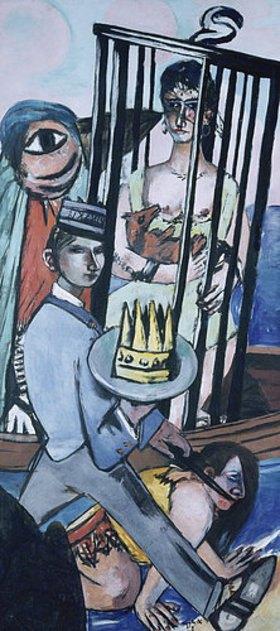Max Beckmann: Triptychon Die Versuchung (des hl. Antonius). 1936/1937. Rechter Flügel