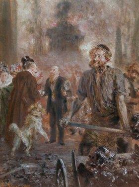 Adolph von Menzel: Der Besuch des Aufsichtsrates im Walzwerk