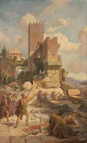 Friedrich Preller d.Ä.: Szene aus der Odyssee: Abzug von Troja