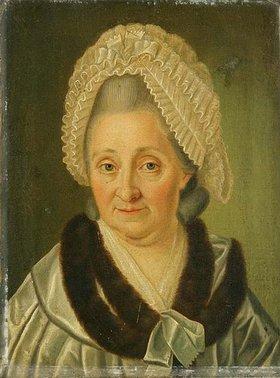 Isaak Juncker: Porträt einer Dame, angeblich Catharina Elisabeth Goethe