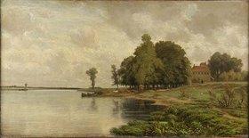 Carl Peter Burnitz: Das Mainufer mit der Gerbermühle
