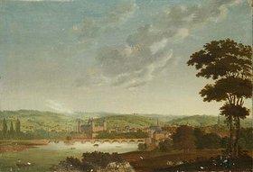 Kilian Metzinger: Aschaffenburg vom Main aus