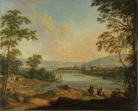 Johann Christian Vollerdt: Dresden vom rechten Elbufer aus gesehen