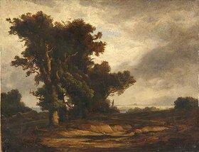 Friedrich Preller d.Ä.: Eichen an der Ostsee