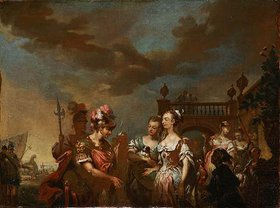 Johann Conrad Seekatz: Dido empfängt Aeneas. Wohl spätes 18. Jh