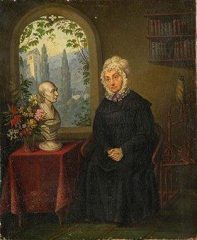 Unbekannter Künstler: Marie Christine Ernestine Voss, geb. Boie. Nach 1826, vor