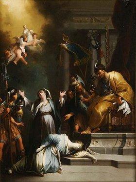 Johann Georg Trautmann: Ungedeutete Szene: Tod oder Himmelfahrt einer Seeligen oder Heiligen (?)