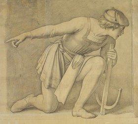 Julius Schnorr von Carolsfeld: Kniender Armbrustschütze