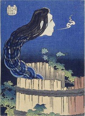 Katsushika Hokusai: Sara yashiki.Der Tellerpalast