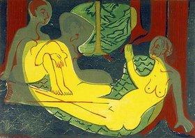 Ernst Ludwig Kirchner: Drei Akte im Walde
