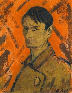 Otto Mueller: Selbstbildnis 1921. Leimfarbe/Lwd., 71 x 54,7