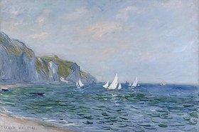 Claude Monet: Klippen und Segelschiffe bei Pourville