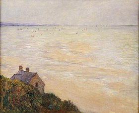 Claude Monet: Die Hütte in Trouville bei Ebbe