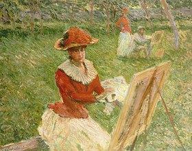 Claude Monet: Blanche Hoschede malend