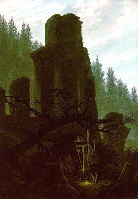 Caspar David Friedrich: Kirchenruine im Wald