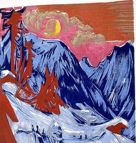 Ernst Ludwig Kirchner: Wintermondnacht