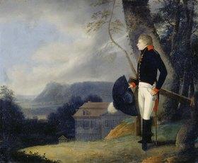 Georg Friedrich Kersting: Preußischer Kavallerist in Landschaft