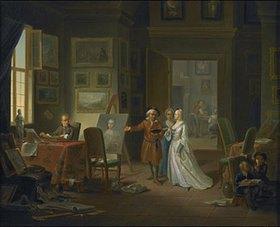 Justus Juncker: Besuch im Atelier eines Malers