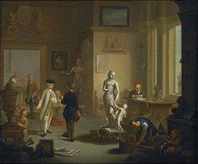 Justus Juncker: Besuch in der Werkstatt eines Bildhauers