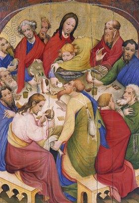 Konrad von Soest: Altarflügel - Mitte/Detail: Abendmahl