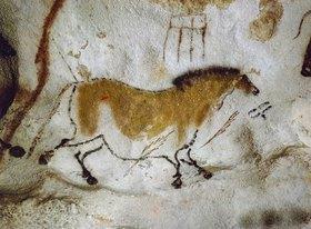 Unbekannter Künstler: Höhle von Lascaux. Zweites Chinesisches Pferd. Ca. 17.000 v.Chr
