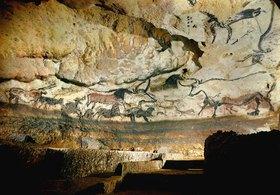 Unbekannter Künstler: Höhle von Lascaux, Dordogne. Linke Wand des großen Saales der Stiere. Um 17.000 v.Chr