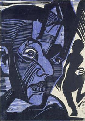 Ernst Ludwig Kirchner: Selbstbildnis (Melancholie der Berge)
