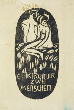 Ernst Ludwig Kirchner: Zwei Menschen. (Aus: Zwei Menschen, Mann und Weib)