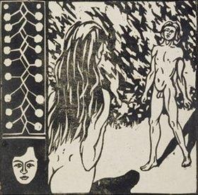 Ernst Ludwig Kirchner: Begegnung. (Aus: Zwei Menschen, Mann und Weib)