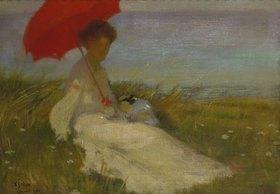 Karel Spillar: Dame mit Sonnenschirm