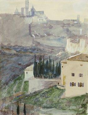 Max Klinger: Siena, von San Domenico aus