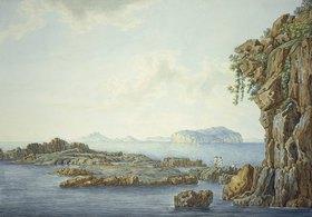 Christoph Heinrich Kniep: Blick auf Nisida, Procida und Ischia