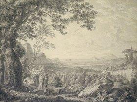 Christoph Heinrich Kniep: Golf von Neapel mit Blick über die Campi Flegrei