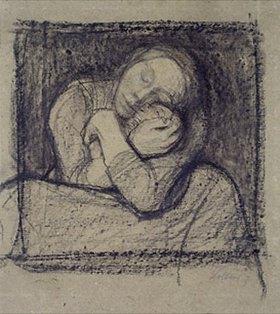 Käthe Kollwitz: Kauernde Mutter