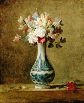 Jean-Baptiste Siméon Chardin: Blumen in einer Vase