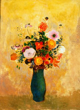 Odilon Redon: Wildblumen in grüner Vase