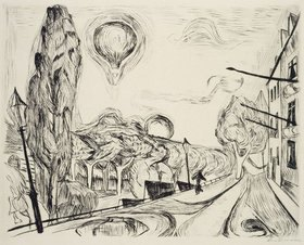 Max Beckmann: Landschaft mit Ballon
