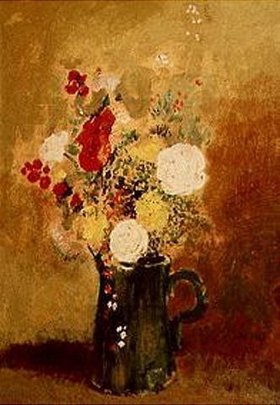 Odilon Redon: Blumenstrauß in grüner Kanne