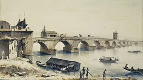 Jean-Jacques Boissieu: Ansicht der Rhone-Brücke in Lyon