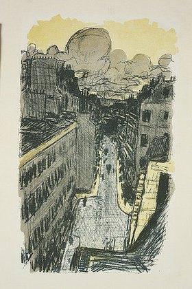 Pierre Bonnard: Rue vue d'en haut. (Straße von oben gesehen)