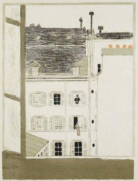 Pierre Bonnard: Maison dans la cour. (Hinterhaus)