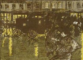 Pierre Bonnard: Rue le soir sous la pluie. (Straße am Abend im Regen)