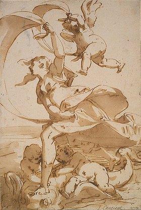 Luca Cambiaso: Venus und Amor über das Meer segelnd