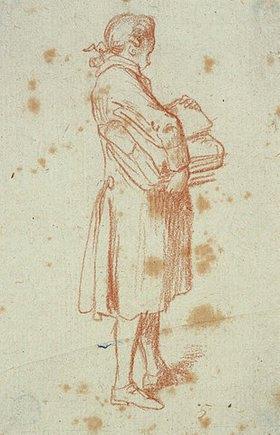 Daniel Chodowiecki: Stehender Mann mit einem Bücherpaket unter dem Arm